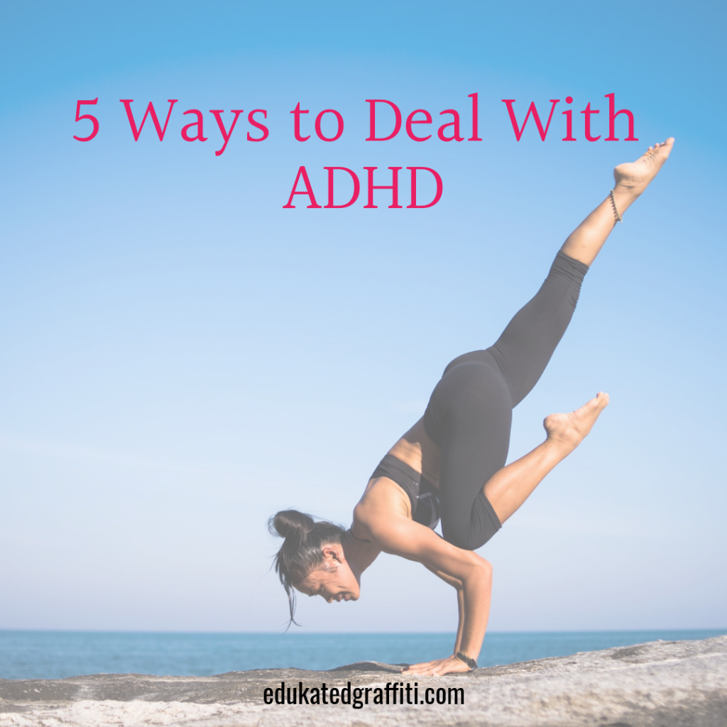 female doing yoga pose adhd