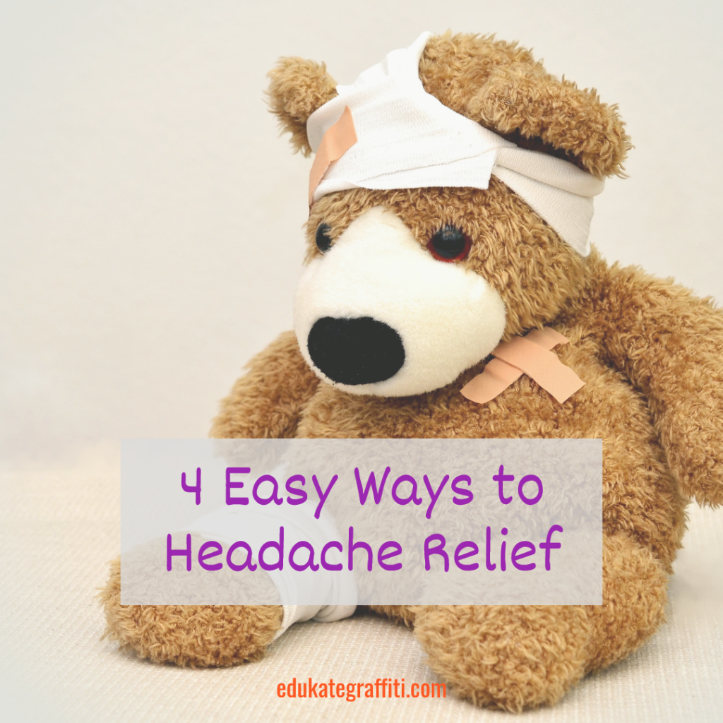 teddy bear with bandage on head for headache
